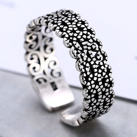 Fashion jewelry metallic vintage simple temperament open ring NHSC200918's discount tags