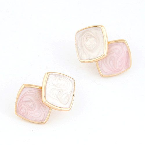 Fashion jewelry Korean fashion lady wild three-dimensional cube temperament earrings NHSC201026