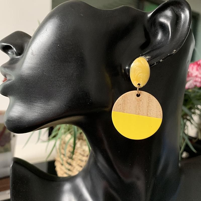 earrings new geometric wooden earrings  retro earrings NHJJ200923
