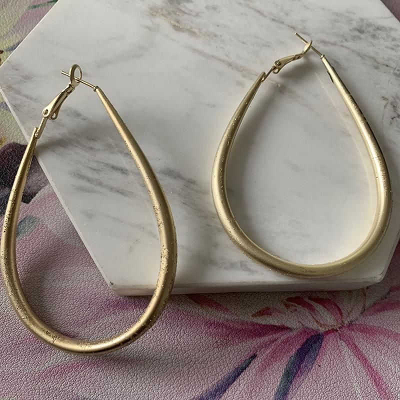 Simple wild alloy electroplated drop earrings fashion earrings for women NHJJ200924