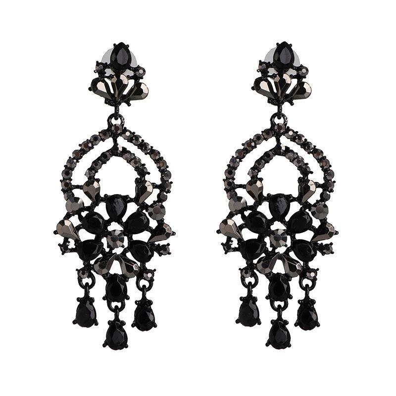 Creative new alloy earrings vintage diamond earrings fashion exaggerated earrings ladies NHJJ200928