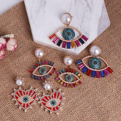 Nouveau Boucles d'oreilles Oeil d'Ange Femmes Marée Coréenne Boucles d'Oreilles Diable Français NHJJ200929's discount tags