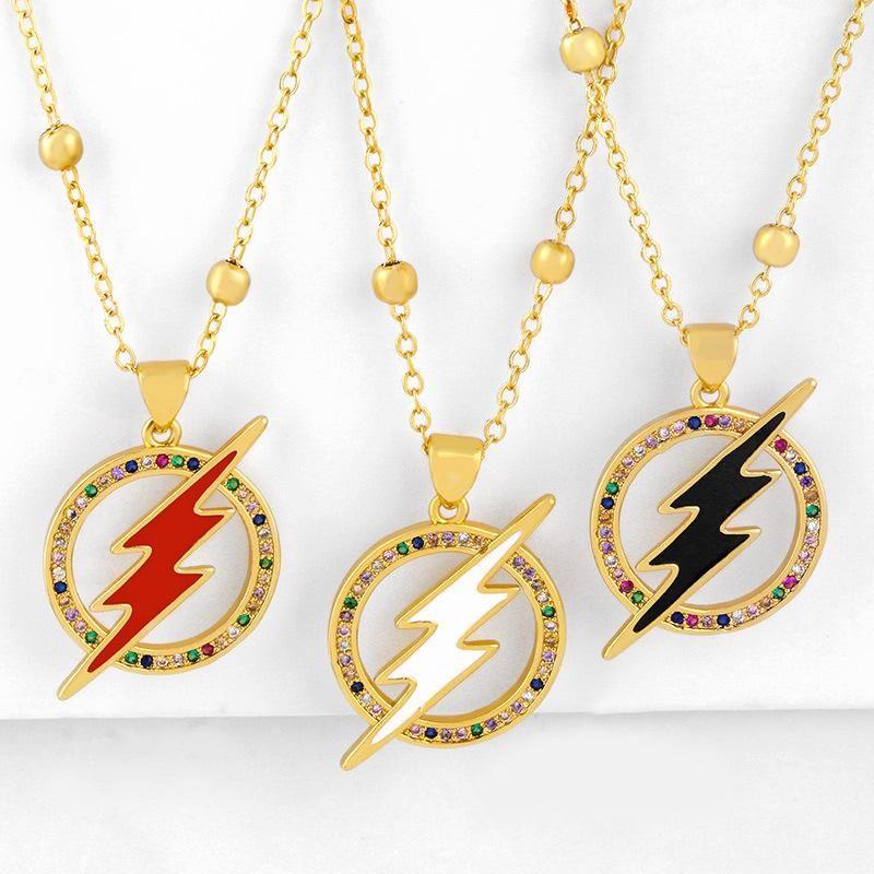 New Accessories Pendant Necklace Creative Lightning Diamond Necklace NHAS200956