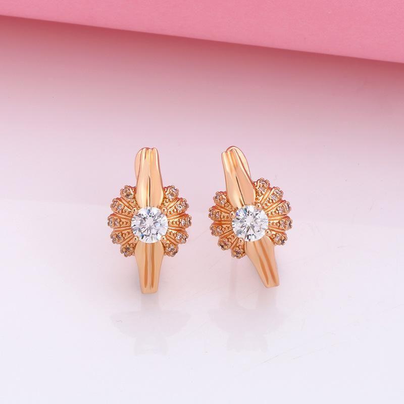 Jewelry creative earrings retro earrings personality simple zircon earrings women NHAS200965