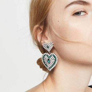 New Double Layered Love Geometric Earrings Color Diamond Super Flash Show Jewelry Earrings NHMD200967's discount tags