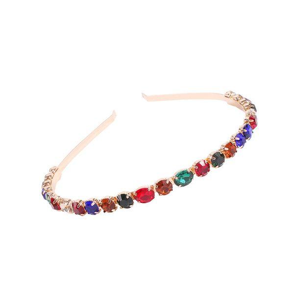 High-end alloy diamond colored hair hoop fashion super flash full diamond show jewelry hair accessories NHMD200968