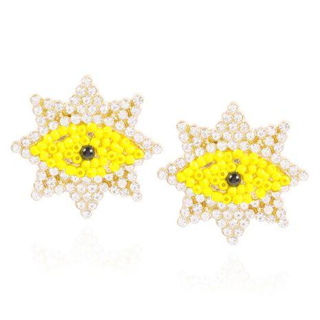 Personalized Creative Geometric Devil's Eye Stud Earrings Beads and Diamonds Fashion Earrings NHMD200970's discount tags