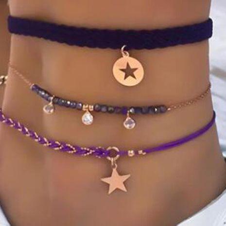Nouveaux accessoires en alliage Twist Disc Star Diamond Tassel Anklet Cover Wholesale NHGY201014's discount tags