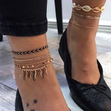 Mode chaîne sauvage disque gland cheville nouveau bracelet de cheville en gros NHGY201016's discount tags