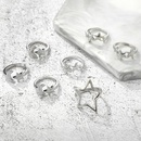 New Star Moon Ring 7 Piece Set Pentagram Open Joint Ring Set Wholesale NHGY201018