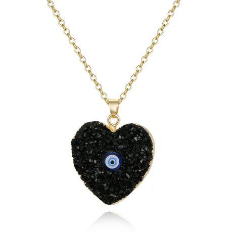 Nouveau style oeil pendentif collier imitation pierre naturelle amour résine collier en gros NHGO201029's discount tags