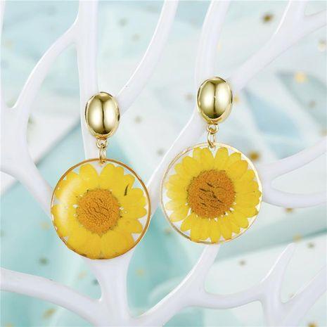 Jewelry Dried Flower Earrings Resin Earrings Eternal Flower Earrings Epoxy Chrysanthemum Earrings NHGO201031's discount tags