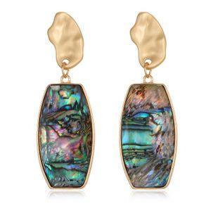 Moda Joyas Aretes de campana de abulón Pendientes de concha de resina Pendientes largos al por mayor de moda NHGO201033's discount tags