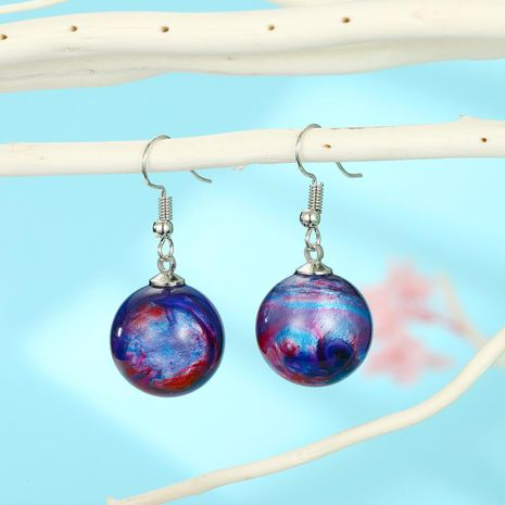 New Star Earrings Colorful Ball Earrings New Star Earrings Resin wholesales fashion NHGO201037's discount tags