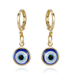 New Demon Eye Retro Simple Earrings Gold Round Resin Earrings NHGO201038's discount tags