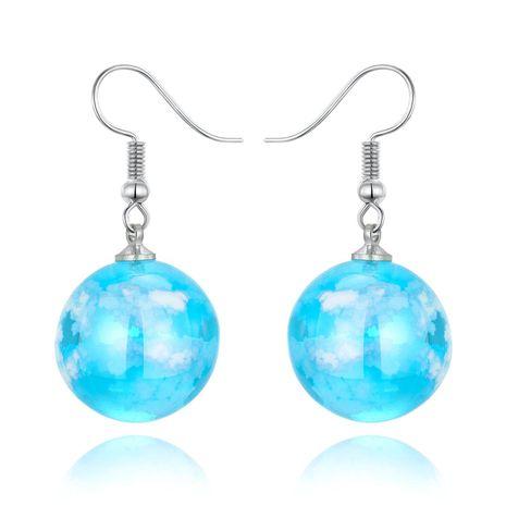 Jewelry Earrings Blue Sky White Cloud Ball Earrings Korea New Starry Bird Earrings Resin NHGO201040's discount tags