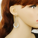 Jewelry vintage simple geometric alloy earrings handwound earrings NHGO201049