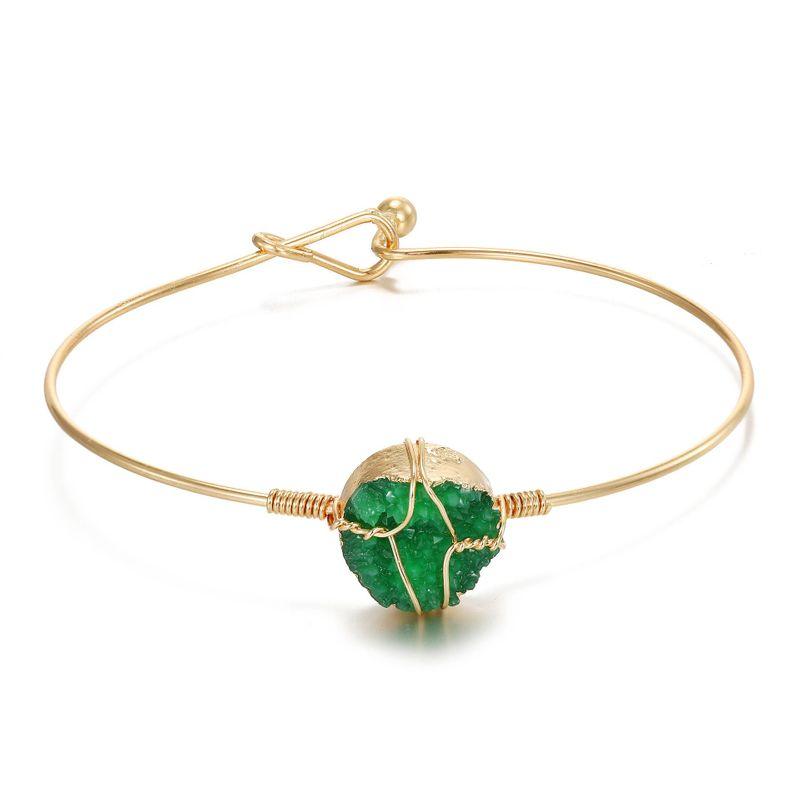 Original handmade wire winding bracelet resin bracelet imitation natural stone bracelet bracelet wholesale NHGO201056