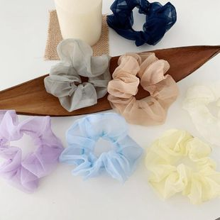 Nueva moda dulce hilo neto pelo cuerda coreana accesorios para el cabello albóndiga anillo para el cabello tocado mujeres NHOF201057's discount tags