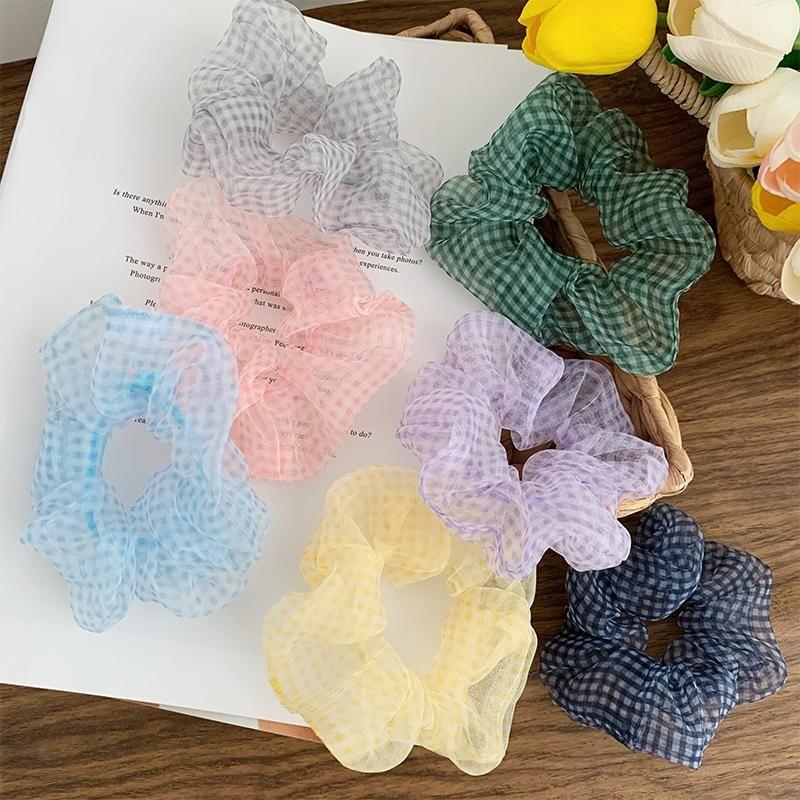 New mesh gauze hair ring meatball hair rope ponytail Korean hair accessories NHOF201060