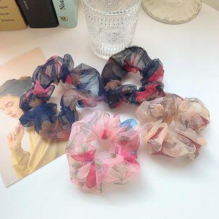 Anillo de pelo de tela de estilo étnico enrejado floral estilo retro diosa banda elástica cabeza de pelo cuerda cuerda anillo de pelo NHOF201062's discount tags