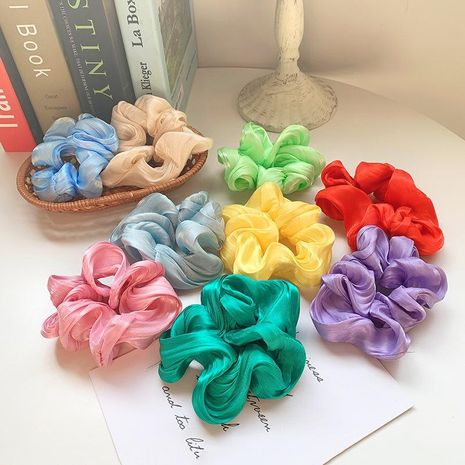 Fresh summer candy color hair ring girl heart flower color ponytail hair NHOF201063's discount tags