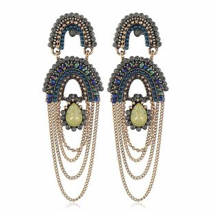 Fashion women's earring new fashion tassels long exaggerated women earrings wholesale NHVA201067's discount tags