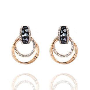 Pendientes de diamantes de aleación de moda coreana Pendientes Pendientes de diamantes redondos vintage al por mayor NHVA201068's discount tags