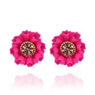 Pendiente de mujer de moda nueva moda gemas de flores dulces pendientes salvajes al por mayor NHVA201070's discount tags