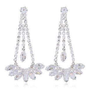 Fashion women's earring Korean exaggerated long diamond earrings NHVA201071's discount tags