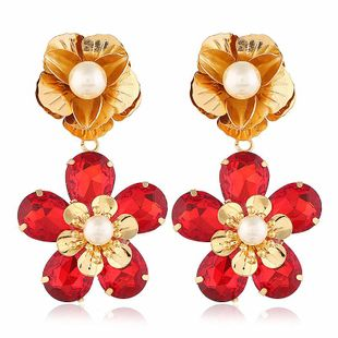 Fashion women's earring new fashion exaggerated large gems sweet earrings wholesale NHVA201072's discount tags