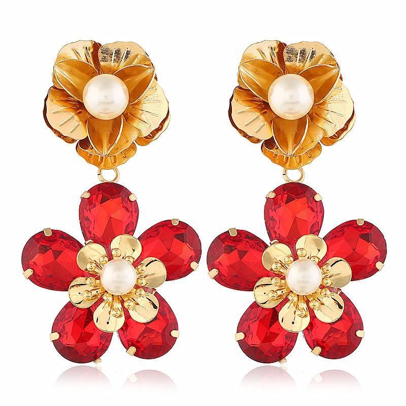 Fashion women's earring new fashion exaggerated large gems sweet earrings wholesale NHVA201072