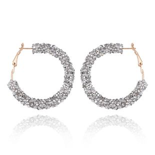 Fashion women's earring Korean exaggerated full diamond round short earrings women's accessories NHVA201075's discount tags