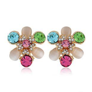 Pendientes de las mujeres de moda al por mayor vintage de diamantes de flores silvestres pendientes de las mujeres NHVA201080's discount tags