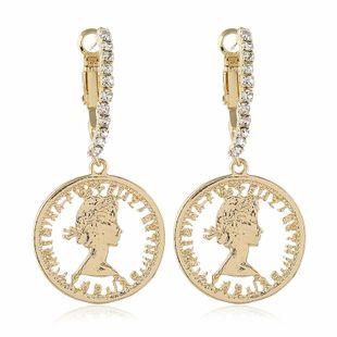 Pendiente de mujer de moda simple aleación pendientes de diamantes coreanos al por mayor NHVA201081's discount tags
