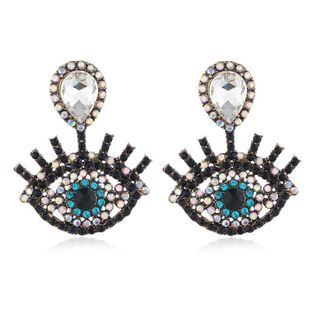 Fashion women's earring fashion new earrings women retro exaggerated water drops eyes earrings wholesale NHVA201084's discount tags