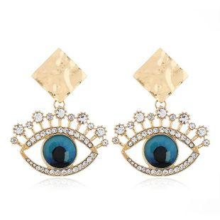 Pendiente de las mujeres de moda nuevos pendientes de ojos de diamantes de aleación de moda al por mayor NHVA201085's discount tags
