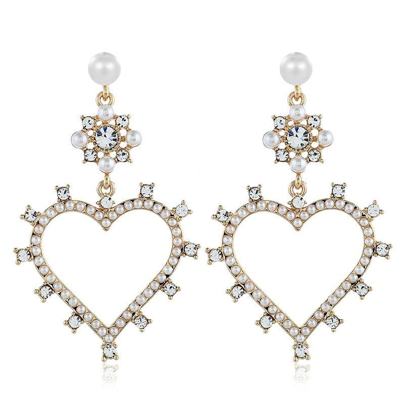 Fashion women's earring retro earrings alloy diamond love earrings women NHVA201089