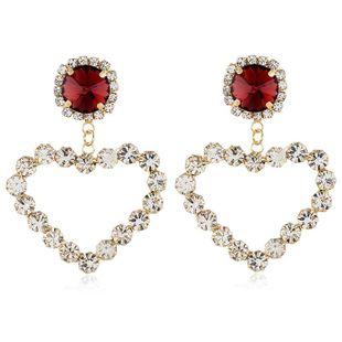Pendientes de diamantes de moda para mujer pendientes de diamantes de aleación retro amor gota de agua gema colgante pendientes de mujer NHVA201097's discount tags