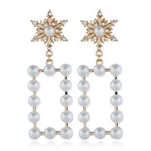 Fashion women's earring new fashion exaggerated star pearl earrings accessories wholesale NHVA201102's discount tags