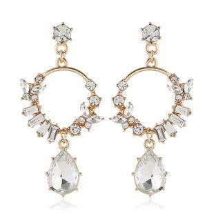 Pendiente de mujer de moda nueva moda de diamantes irregulares pendientes de mujer al por mayor NHVA201105's discount tags