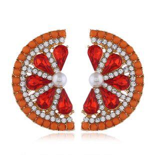 Pendientes de mujer de moda nueva moda de aleación de frutas pendientes de diamantes pendientes de toronja NHVA201106's discount tags