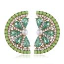 Fashion women39s earring new fashion fruit alloy diamond earrings grapefruit earrings NHVA201106