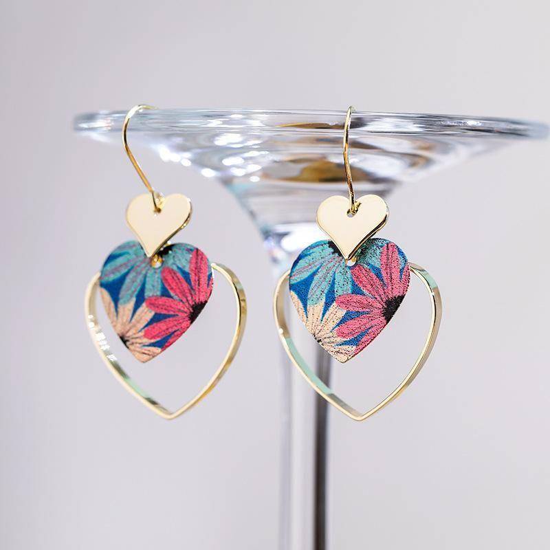 Fashion women's earring925 silver hook sweet love wild earrings female spring new elegant earrings NHPP201110