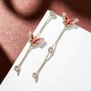 Fashion womens earring 925 silver needle elegant butterfly temperament earrings female new long tassel earrings NHPP201112