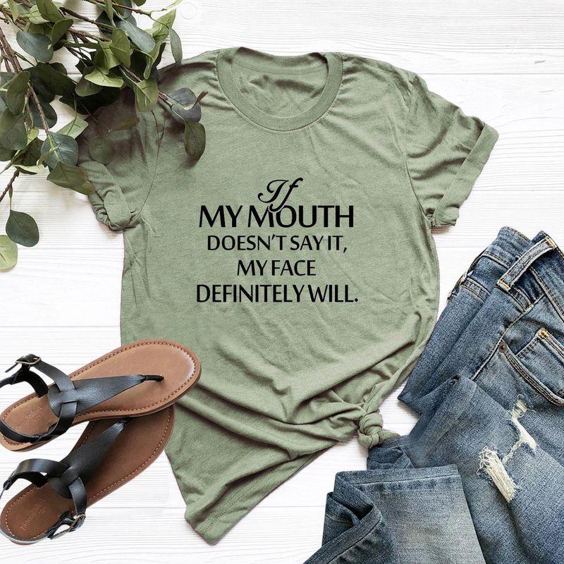 Summer new women's letters short sleeve large size women's T-shirt wholesale NHSN206412