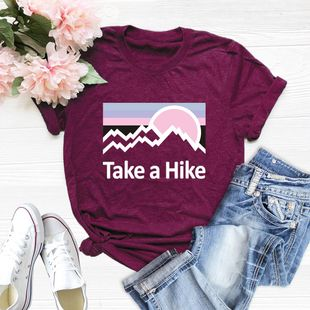 New Comfort Take A Hike Cotton Short Sleeve Women's T-Shirt NHSN206415's discount tags
