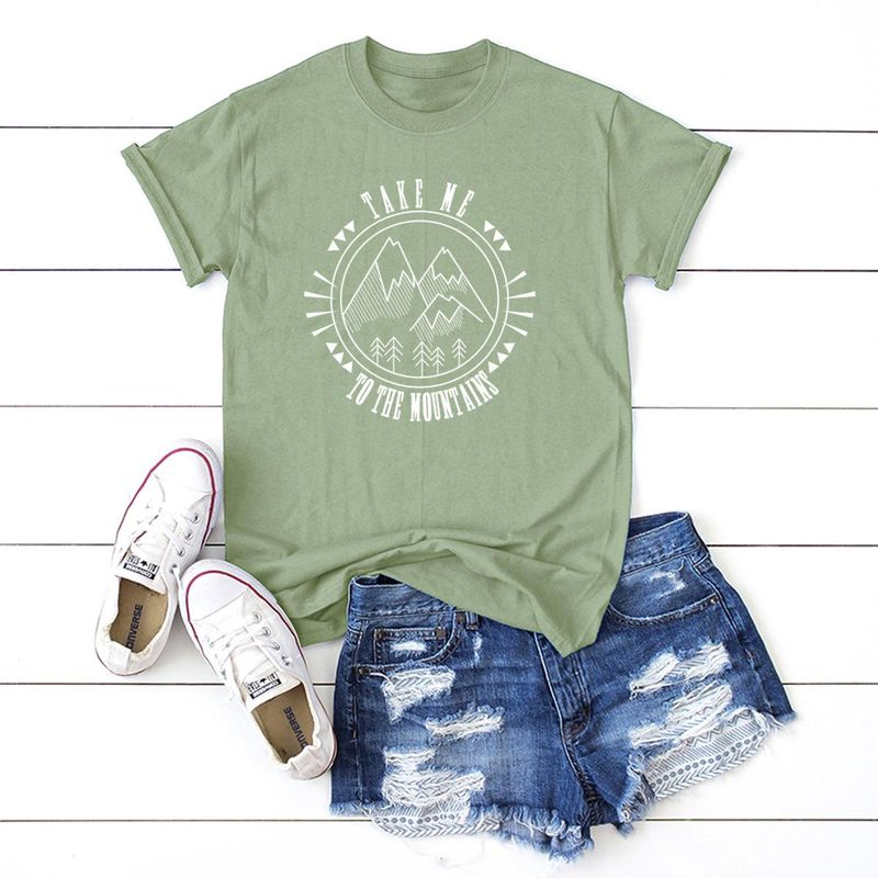 New Fashion Casual Round Neck Cotton Women's Short Sleeve T-Shirt Wholesale NHSN206417