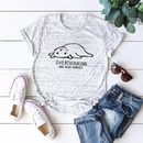 Casual cute womens tshirt relaxed cat round neck cotton short sleeve women T NHSN206419