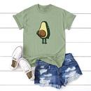 New fun spoof avocado short sleeve women T comfortable casual Tshirt NHSN206420